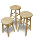 Solid Oak Wood Stools